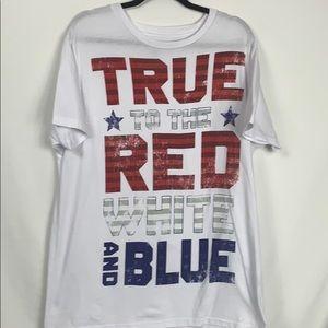 Celebrate Patriotic white tee shirt size XL 46-48